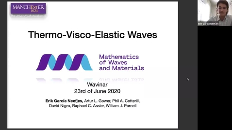 Thumbnail for entry Waves in Complex Continua (Wavinar): Erik Garcia (University of Manchester)