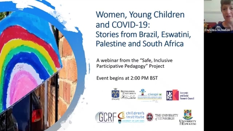 Thumbnail for entry Women, Young Children and COVID-19: Stories from Brazil, Eswatini, Palestine and South Africa