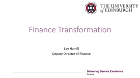 Thumbnail for entry Finance Transformation