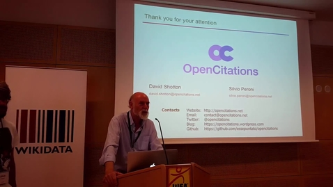 Thumbnail for entry Open Citations - David Shotton and Silvio Peroni at WikiCite 2017