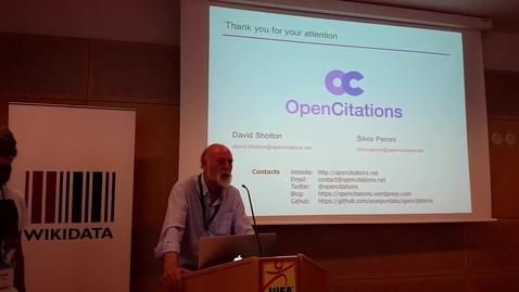 Thumbnail for entry Open Citations - David Shotton and Silvio Peroni at WikiCite 2017