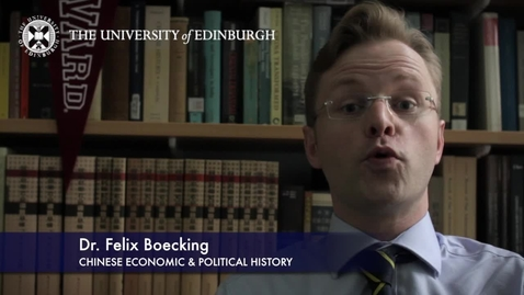 Thumbnail for entry Dr Felix Boecking -Chinese Economic & Political History- Research in a Nutshell