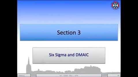 Thumbnail for entry 2b - Six Sigma and DMAIC