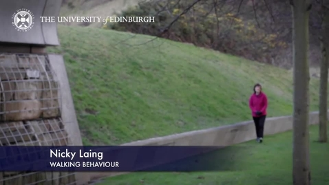 Thumbnail for entry Nicky Laing - Walking Behaviour -Research In A Nutshell-The Moray House School of Education-21/05/2015