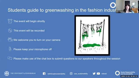 Thumbnail for entry Student's guide to greenwashing in the fashion industry