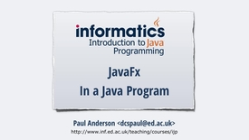 Thumbnail for entry JavaFX 2 - JavaFX in a Java Program