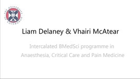 Thumbnail for entry Liam Delaney and Vhairi McAtear BMedSci students