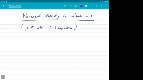 Thumbnail for entry Poincaré duality groups - Dawid Kielak