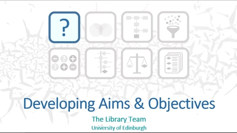 Thumbnail for entry Developing Aims and objectives - The Library Team