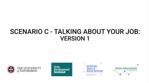 Thumbnail for entry Talking about your job - Version 1