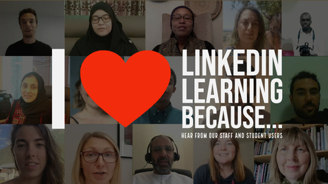 Thumbnail for entry I love LinkedIn Learning because...