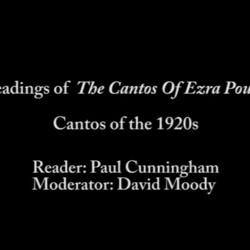 Thumbnail for channel Reading Of The Cantos Of Ezra Pound