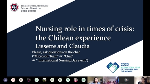 Thumbnail for entry International Nurses Day 2020 event - Nursing Role in Times of Crisis