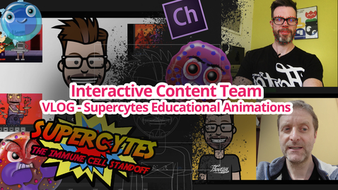 Thumbnail for entry Interactive Content Team VLOG: Supercytes Animations