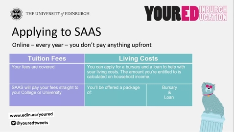 Thumbnail for entry SAAS & Student Funding 2021