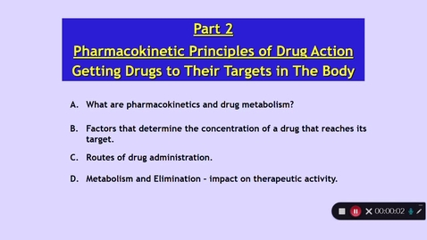 Thumbnail for entry Medical Sciences 1: How Do Drugs Work? Part 2 Dr Phil Larkman