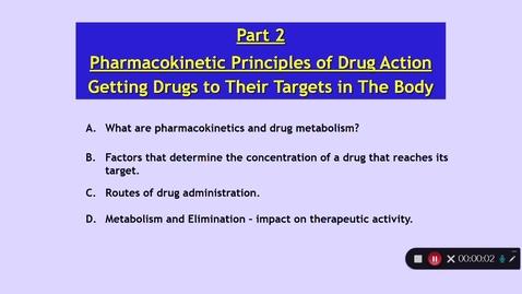 Thumbnail for entry Medical Sciences 1: How Do Drugs Work? Part 2 Dr Phil Larkman