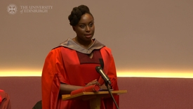 Thumbnail for entry The acclaimed Nigerian author, Chimamanda Ngozi Adichie, has been awarded an honorary degree at the University.