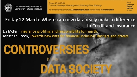 Thumbnail for entry Alternative Data in  Insurance - Liz McFall  - Data Controversies 2019