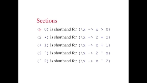 Thumbnail for entry CL - 7b - Quantifiers And Lambda