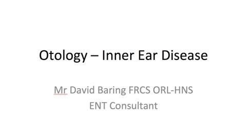 Thumbnail for entry Otology - Inner Ear Disease MBChB Yr5