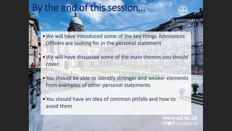 Thumbnail for entry Law Personal Statement Workshop 2021