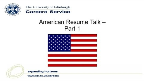 Thumbnail for entry American Resume Talk - Part 1