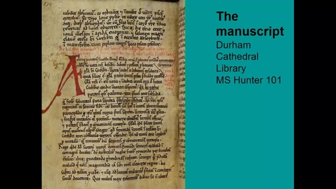 Thumbnail for entry Inside a Medieval Manuscript by Dr Sally Crumplin