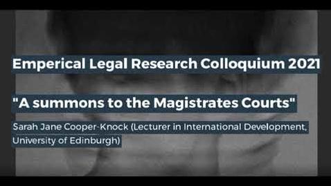 Thumbnail for entry Edinburgh Legal Research Network Colloquium - Part 2