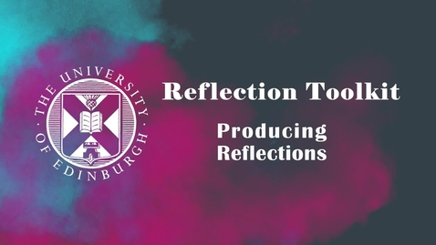 Thumbnail for entry Producing Reflections