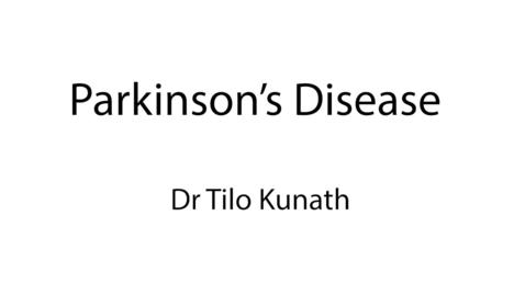 Thumbnail for entry Parkinson's Disease and Stem Cells - Dr Tilo Kunath