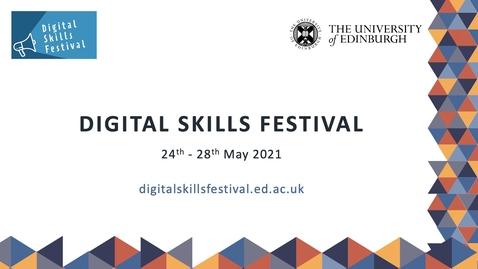 Thumbnail for entry You, Me and Data - Digital Skills Festival Webinar
