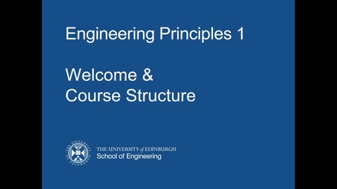 Thumbnail for entry EP1 - Welcome & Course Structure Part 1 - 2021-22