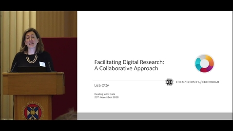Thumbnail for entry Facilitating Digital Research: A Collaborative Approach - Lisa Otty