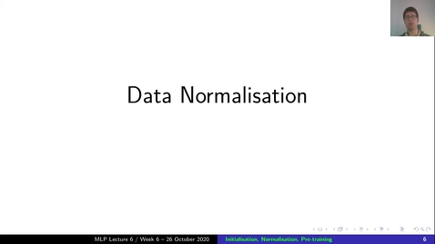 Thumbnail for entry MLP Lecture 06 - Clip 03 - Data Normalisation