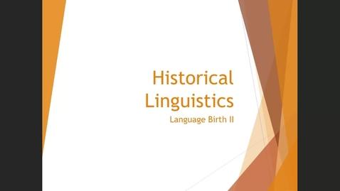 Thumbnail for entry Language Birth II