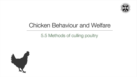 Thumbnail for entry Week 5:  5.5 - Methods of culling poultry