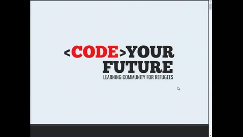 Thumbnail for entry Irina Preda: CodeYourFuture, a coding community for refugees and asylum seekers