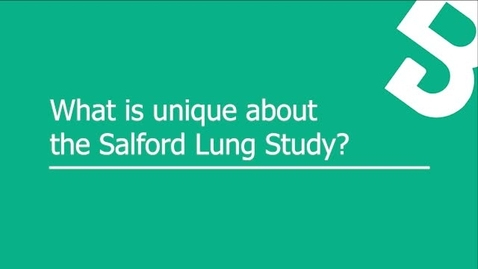 Thumbnail for entry Dr David Leather on the Salford Lung Study: Part 1