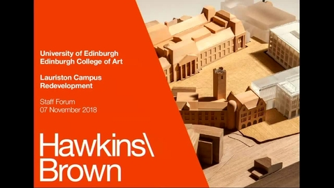 Thumbnail for entry Hawkins\Brown Architects: Lauriston Campus Redevelopment
