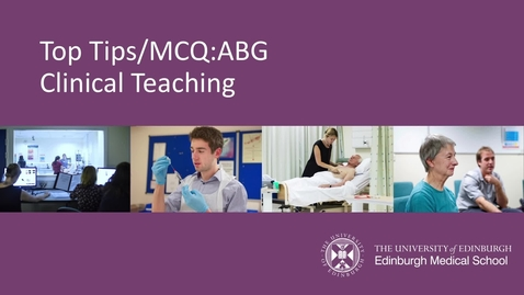 Thumbnail for entry Top tips and MCQ questions
