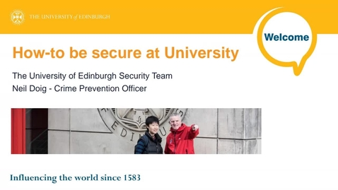 Thumbnail for entry (UG/PG) How-to be secure at University