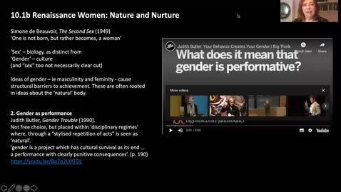Thumbnail for entry 10.1b Renaissance Women, Nature and Nurture
