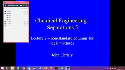 Thumbnail for entry Distillation Lecture 2 2020 part 1