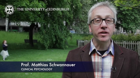 Thumbnail for entry Matthais Schwannauer -Clinical Psychology - Research In A Nutshell- School of Health in Social Science-05/06/2012
