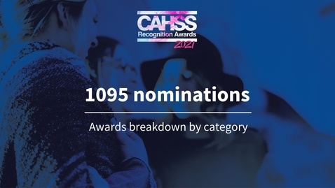 Thumbnail for entry CAHSS Recognition Awards 2021 category breakdown