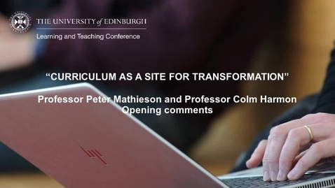 Thumbnail for entry LTC 2021 - Day 1 Opening Comments Peter Mathieson and Colm Harmon with BSL interpretation