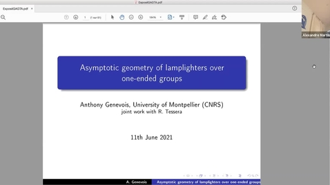 Thumbnail for entry Anthony Genevois (University of Montpellier) - Asymptotic geometry of lamplighter groups