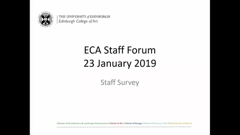 Thumbnail for entry Staff Survey discussion and plenary