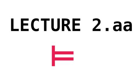 Thumbnail for entry CL - Lecture 2.aa - Aristotelian Syllogisms. Venn diagrams